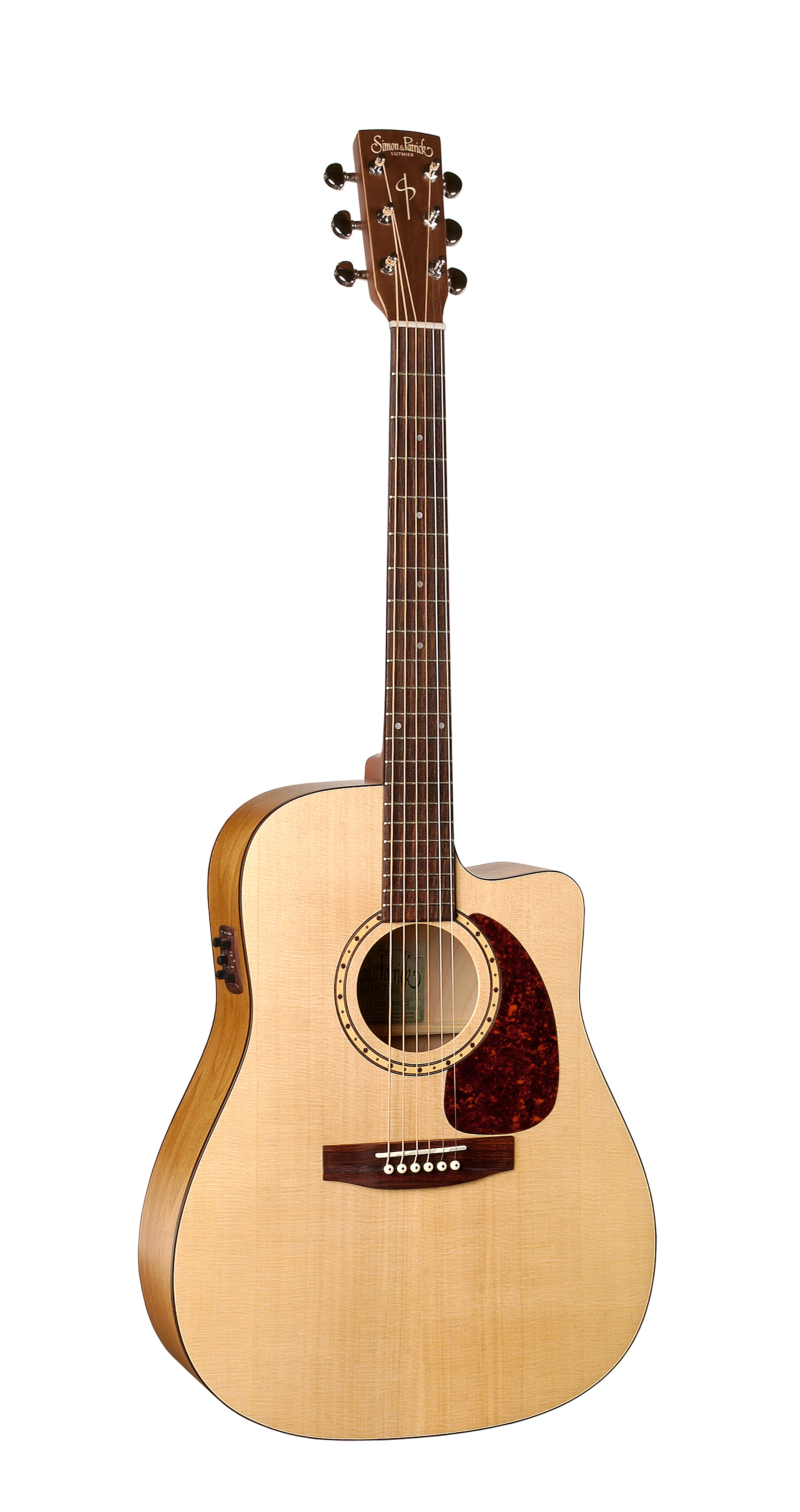 Simon & Patrick 29044 Woodland Spruce Cutaway Acoustic Electric Guitar w/ B-Band A3T