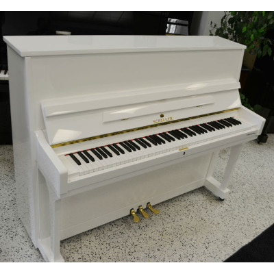 Schiller Peformance Frankfurt Upright Piano 46″ White Polish