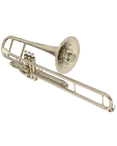 Schiller American Heritage Piston Valve F Trombone Nickel