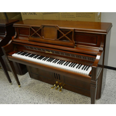 Ritmuller 110 Upright Piano Walnut Semi Satin