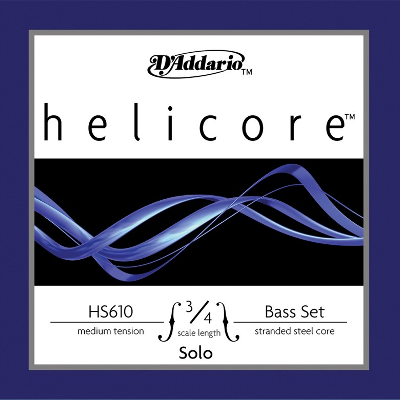 D Addario Helicore Solo 3/4 Bass String Set