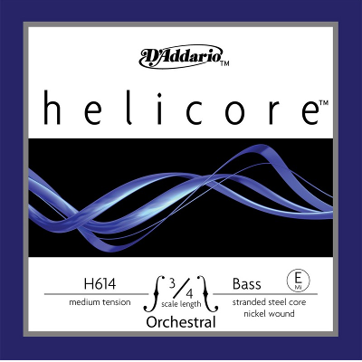 D Addario H614 Helicore 3/4 Nickel Upright Bass String (E)