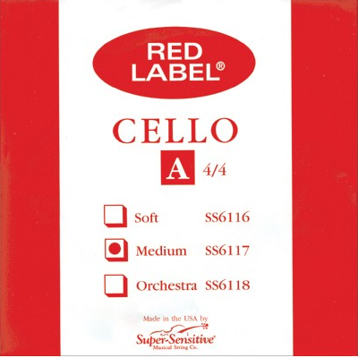Super Sensitive Red Label Cello Strings
