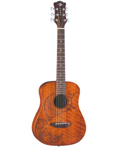 Luna Safari Tattoo Travel Guitar w/ Gigbag - SAF TATTOO