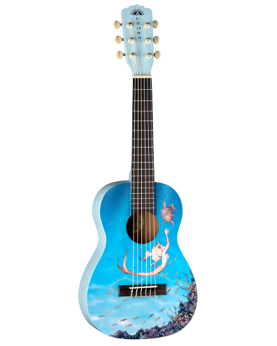 Luna Aurora Mermaid 1/2 Acoustic Nylon - AR2 NYL MERMAID