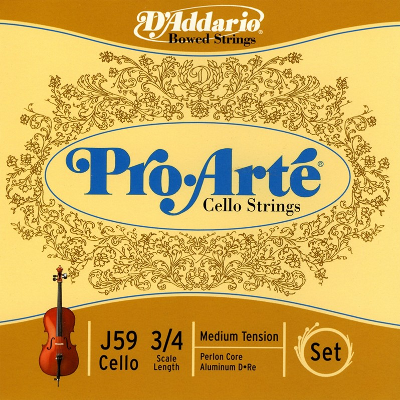 D Addario Pro Arte 3/4 Size Cello String Set