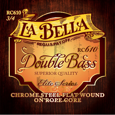 La Bella RC610 Chrome Rope Core Double Bass Strings