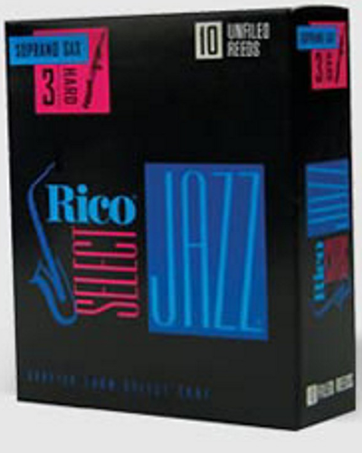 Rico Select Jazz Unfiled Soprano Saxophone Reeds (Assorted Strengths)