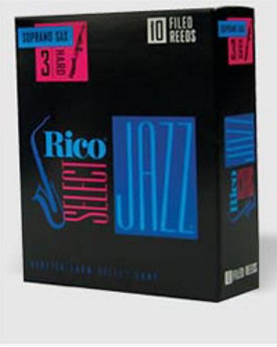 Rico Select Jazz Filed Soprano Saxophone Reeds (Box of 10)