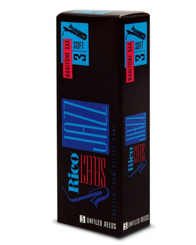 Rico Select Jazz Filed Baritone Saxophone Reeds (Box of 5) (3S Strength)