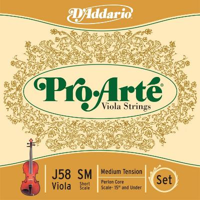 """D Addario Pro Arte Viola String Set (15"""" and Under)"""