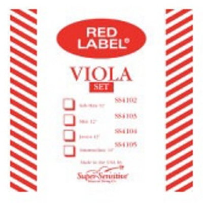 "Super Sensitive Red Lable Single Viola Strings ( 13""/14"" , C )"