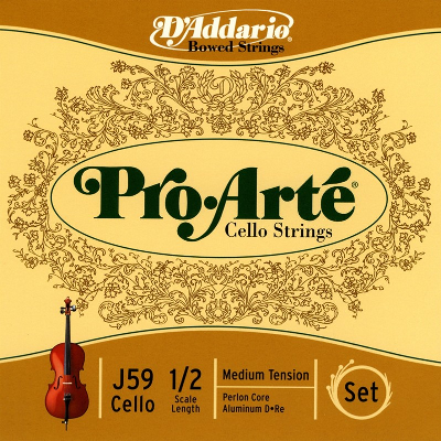 D Addario Pro Arte 1/2 Size Cello String Set