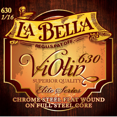 La Bella 630 Metal Violin String Set (1/16 Size)