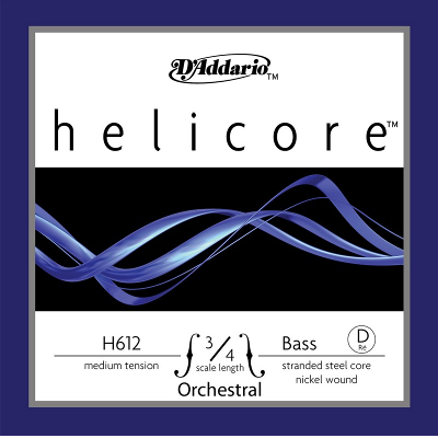 D Addario H612 Helicore 3/4 Nickel Upright Bass String (D)