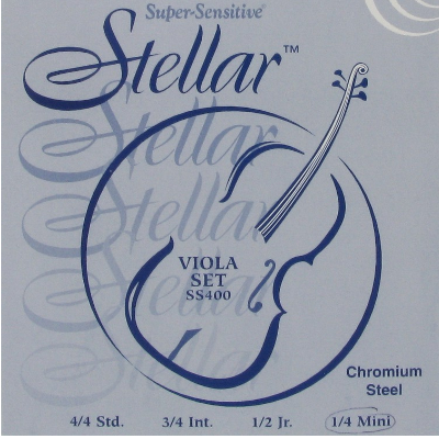 Super Sensitive Stellar Viola String Set (15/16 Inch)
