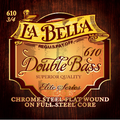 La Bella 610 Elite Series Double Bass Strings, (¾ Size)