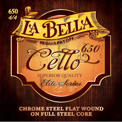 La Bella 650 Full Core Metal Cello String Set (4/4 Size)
