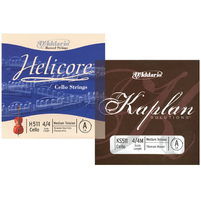 D Addario Kaplan and Helicore Cello Strings