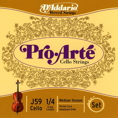 D Addario Pro Arte 1/4 Size Cello String Set