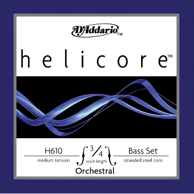 D Addario H610M Helicore Double Bass Strings