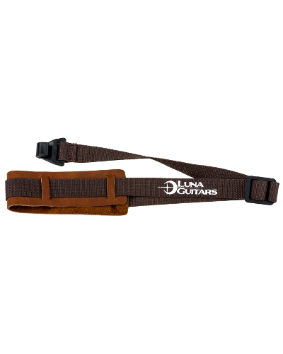 Luna Leather Uke Strap Brown