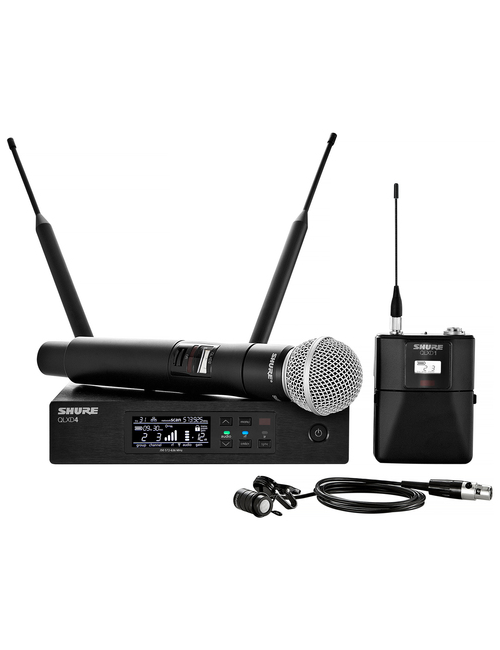 Shure QLXD124/85 Handheld and Lavalier Combo Wireless Microphone System