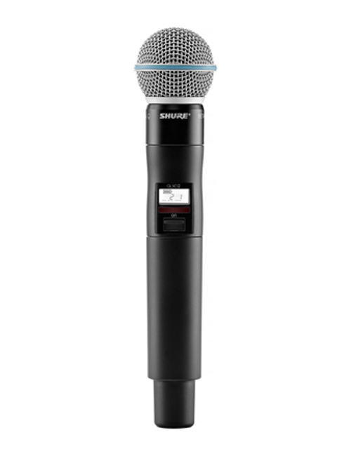 Shure QLXD2/BETA87A Handheld Wireless Microphone Transmitter