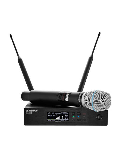 Shure QLXD24/B87A Handheld Wireless Microphone System