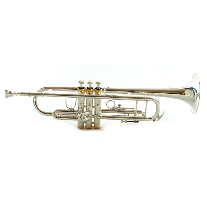 Schiller American Heritage Special 78 Trumpet – Silver with Gold Caps – Bb