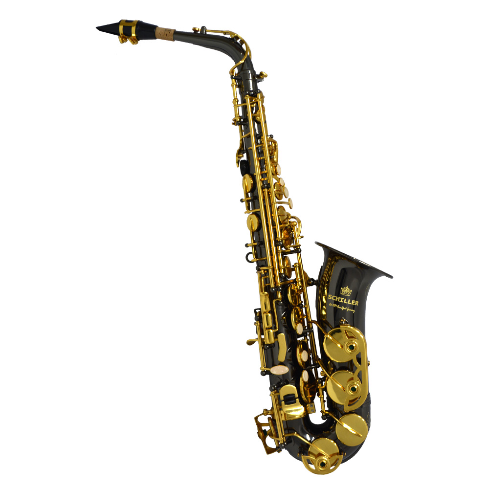 Schiller American Heritage 400 Alto Saxophone - Electro-Black and Gold