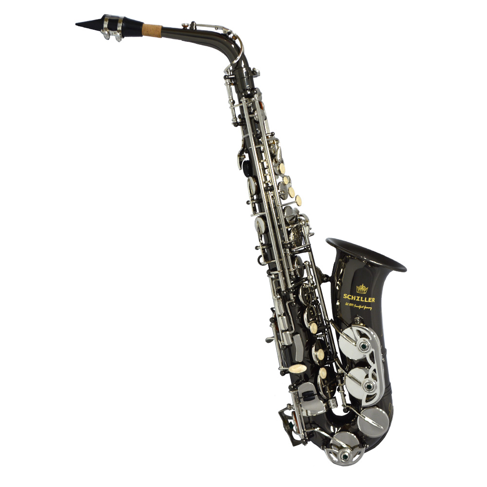 Schiller American Heritage 400 Alto Saxophone - Electro-Black and Silver