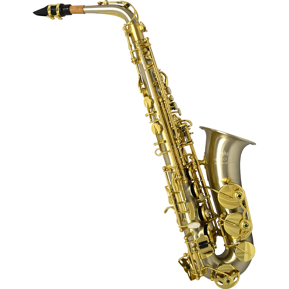 Schiller Elite V Alto Saxophone - Brushed Silver Steel Stainless Finish