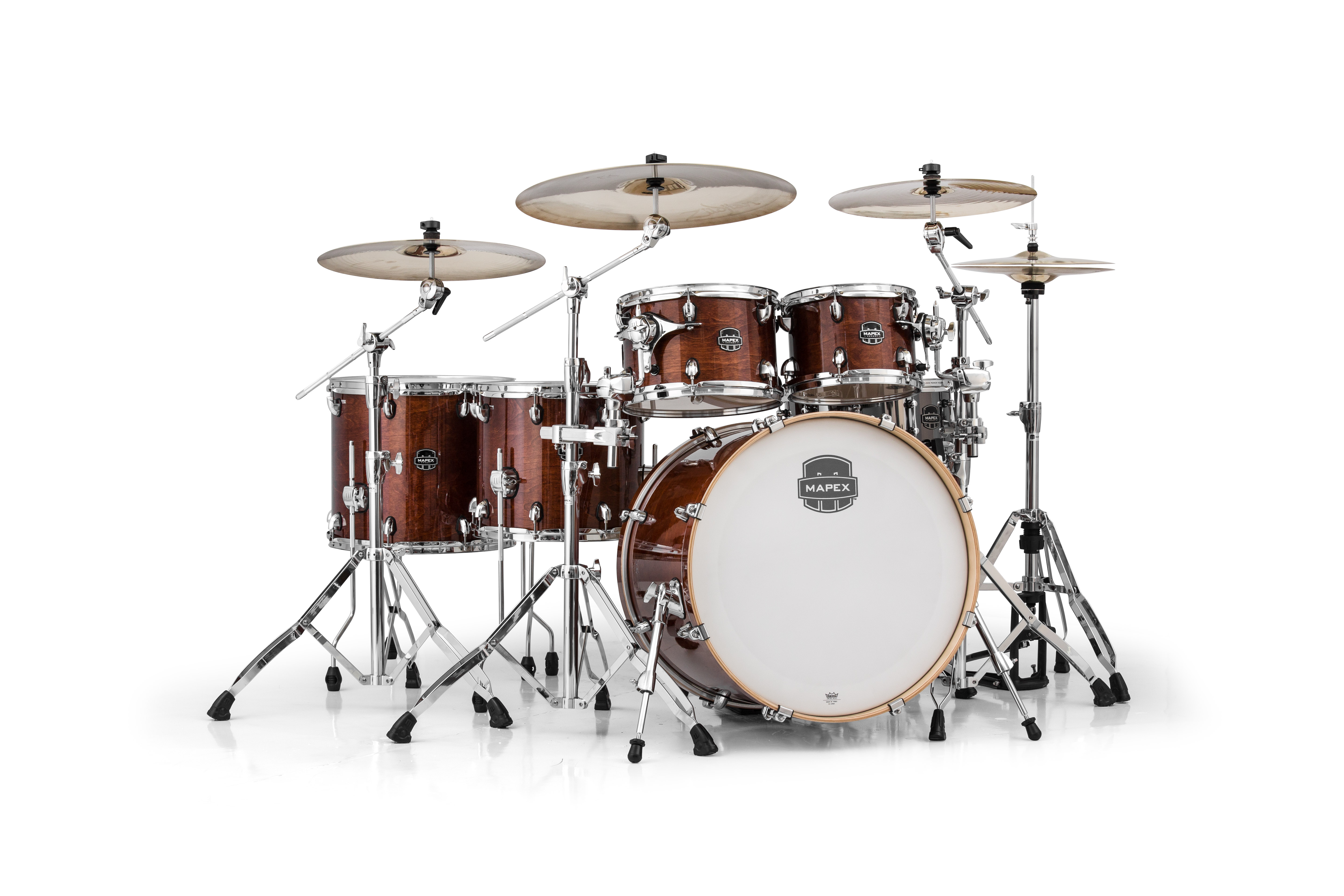 Mapex Armory 6 Piece Studioease Fast Shell Pack - AR628SFUWT - Transparent Walnut