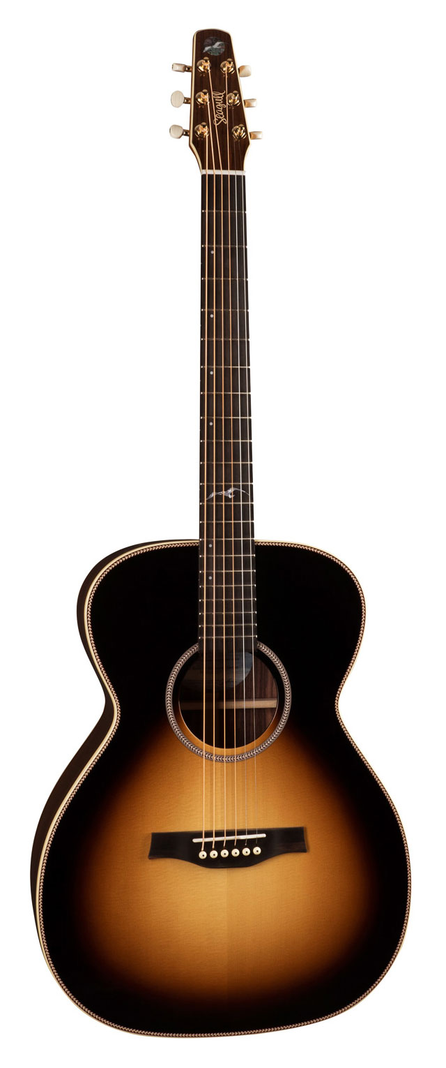 Seagull Artist Studio Concert Hall Sunburst Element Acoustic Guitar