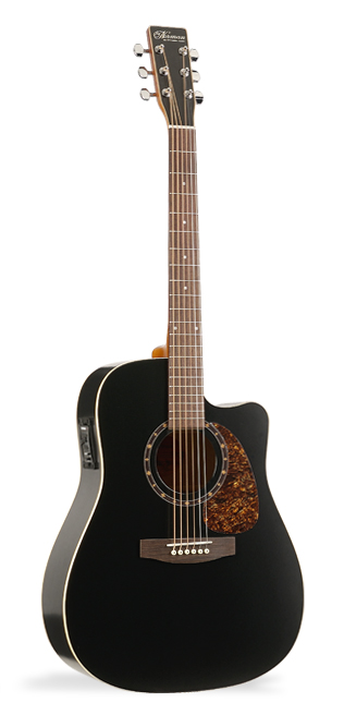 Norman B18 Black Presys Acoustic Electric Guitar