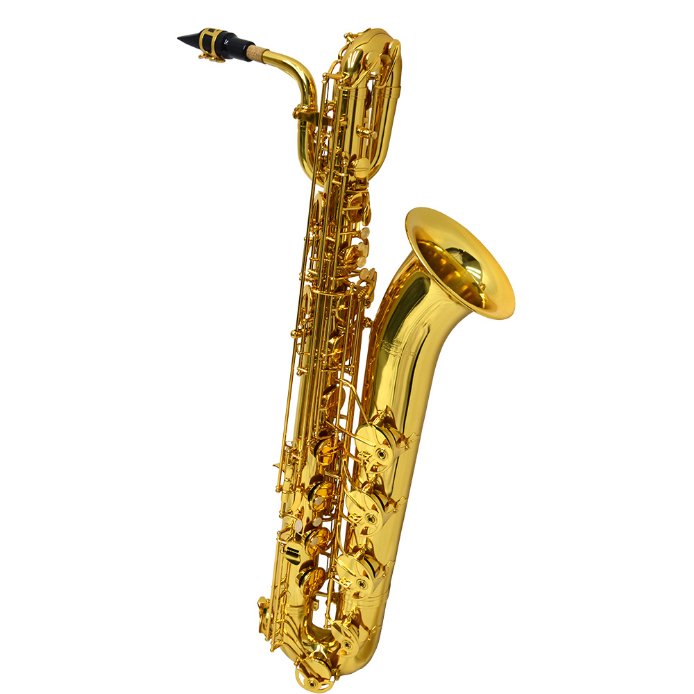 Schiller American Heritage 400 Baritone Saxophone - Gold Knox