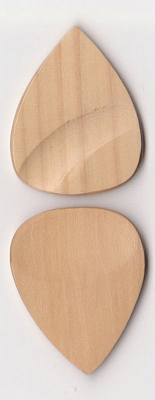 Thicket Wooden Guitar Pick - Thumb & Finger Groove - Boxwood - Pack of Three