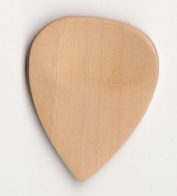 Thicket Wooden Guitar Pick w/ Thumb Groove - Boxwood - Pack of 3