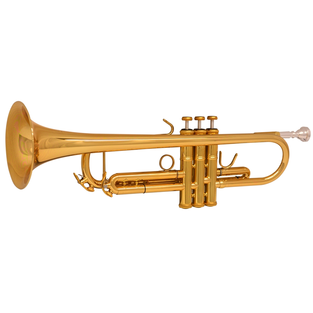 Schiller American Heritage Trumpet - Gold Lacquer Reverse Leadpipe