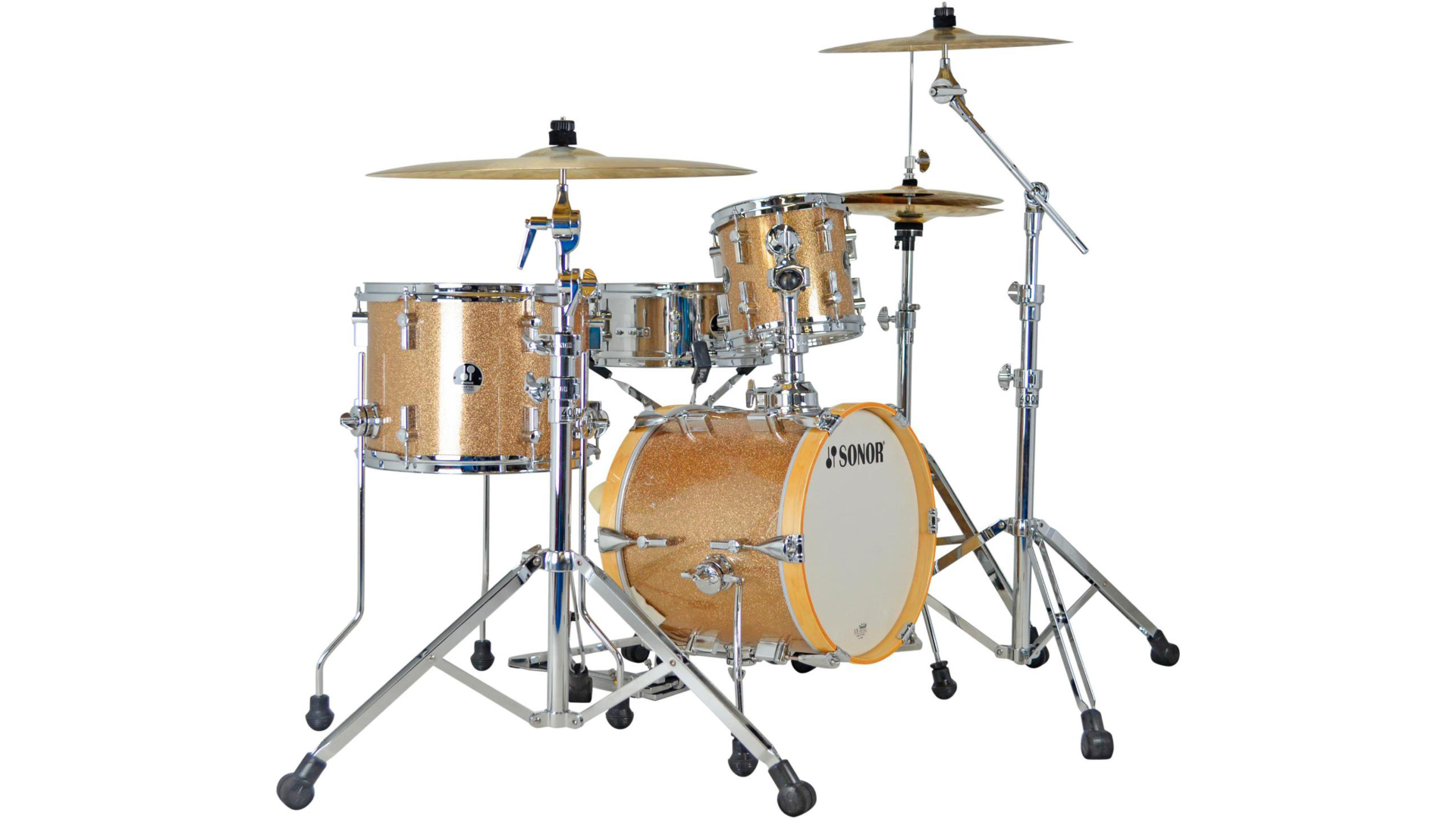 Sonor Martini 4-Piece Shell Pack  Champagne Galaxy Sparkle