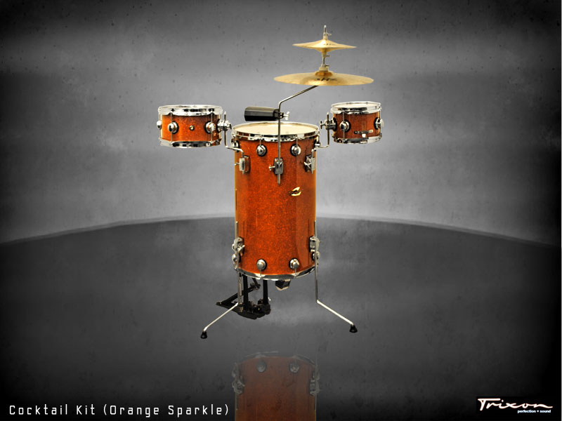 Trixon Elite Cocktail Kit Orange Sparkle