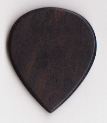 Thicket Wooden Guitar Pick - Ebony Wood - Pack of Three - Heavy