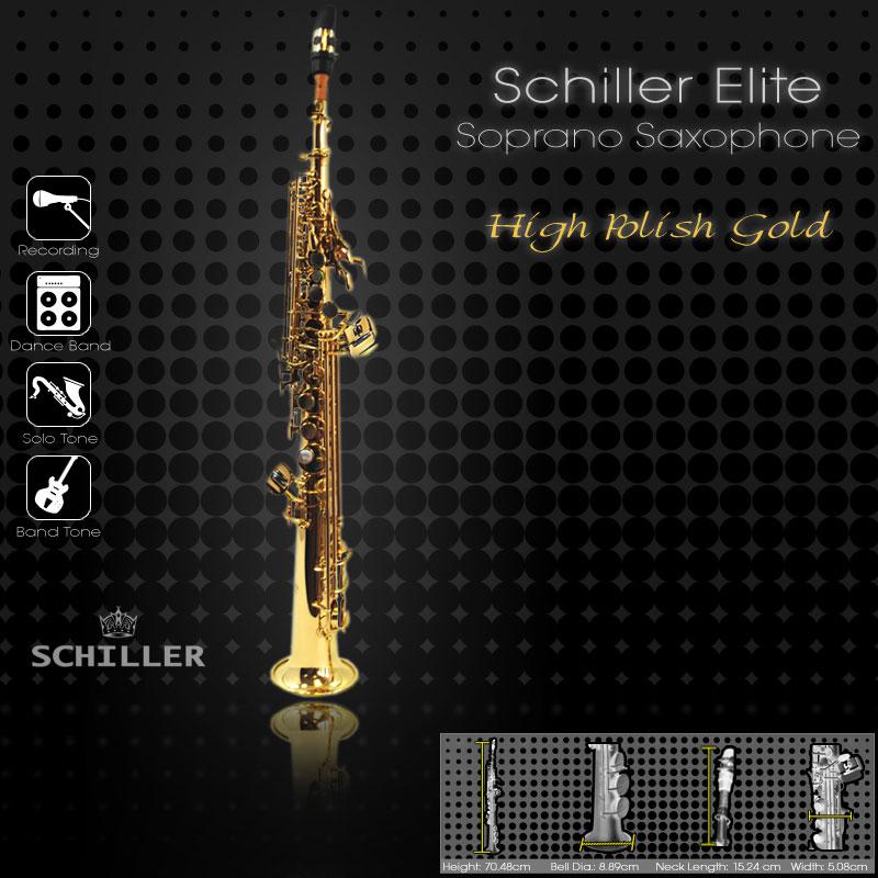 Schiller Elite IV Soprano Saxophone Gold