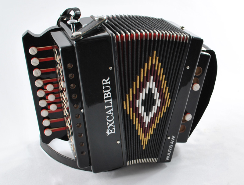Excalibur European Series Button Accordion Key of C Warsaw II