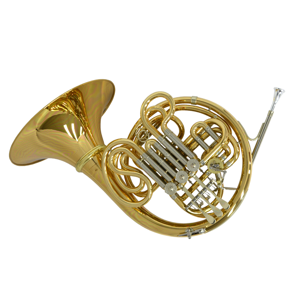 Schiller American Elite VI (A) French Horn w/ Detachable Bell - Yellow Brass and Nickel