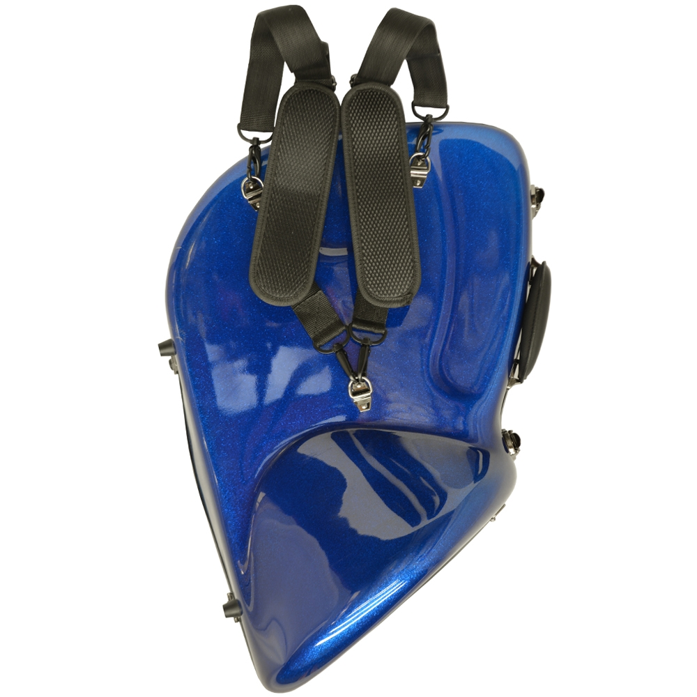 Schiller Professional French Horn Case - Eldorado Blue Sparkle