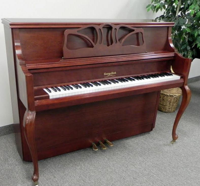 George Steck Upright Piano - French Cherry