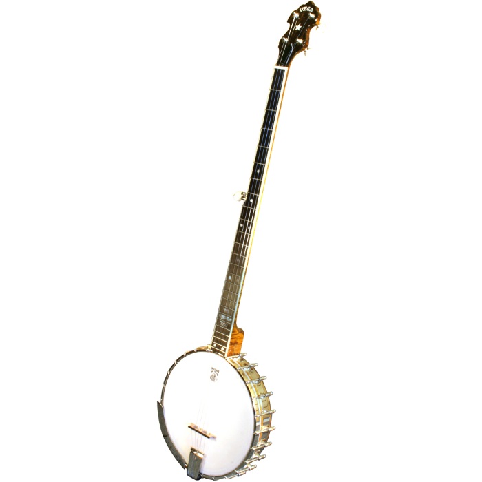 Deering Vega® Kingston Trio Long Neck Banjo - George Grove - Brown Cremona Stain
