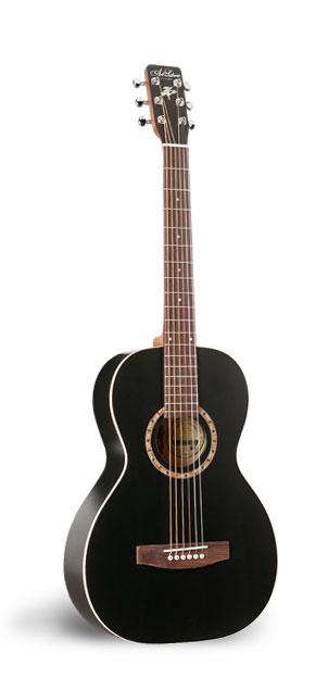 Art & Lutherie Ami Cedar Black Acoustic Guitar